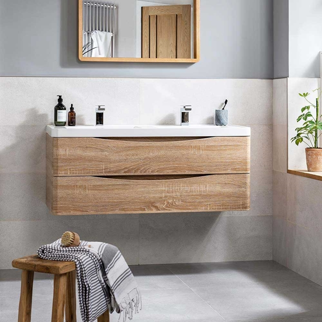 Harbour Clarity 1200mm Wall Mounted Vanity Unit & Double Basin