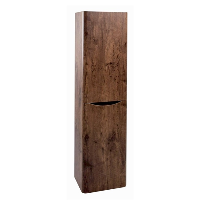 Harbour Clarity 1500mm Wall Mounted Tall Storage Cabinet - Chestnut