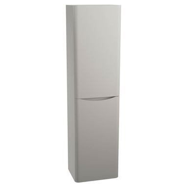 Harbour Clarity 1500mm Wall Mounted Tall Storage Cabinet - Grey