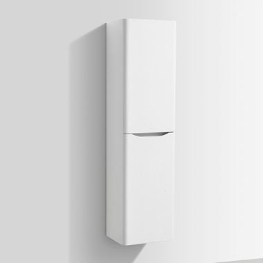 Harbour Clarity 1500mm Wall Mounted Tall Storage Cabinet - White Ash