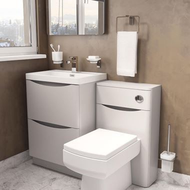 Harbour Clarity 500mm Back To Wall WC Unit - Grey