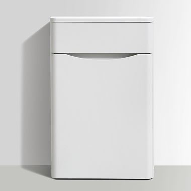Harbour Clarity 500mm Back to Wall WC Unit - White Ash