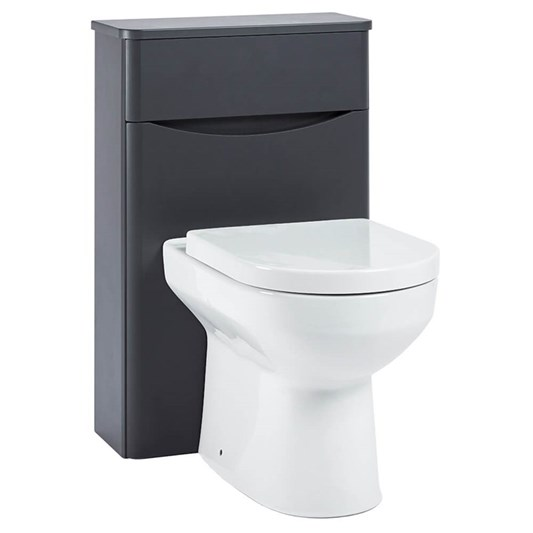 Harbour Clarity 500 WC Unit - Matt Graphite Grey