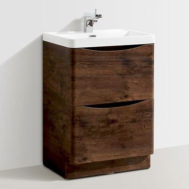 Harbour Clarity 600mm Floorstanding Vanity Unit & Basin - Chestnut