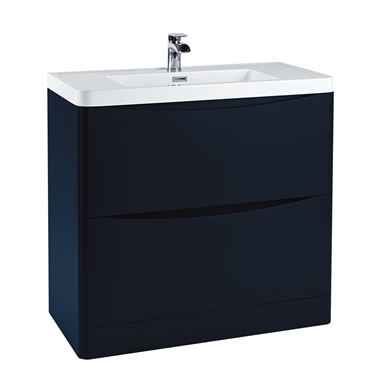 Harbour Clarity 900mm Floorstanding Vanity Unit & Basin - Indigo Blue