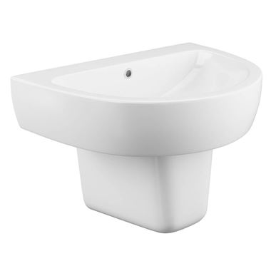 Harbour Clarity Basin & Semi-Pedestal - 560mm