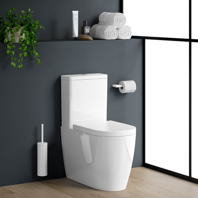 Harbour Clarity Fully Back to Wall Toilet & Soft Close Seat - 664mm Projection
