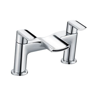 Harbour Clarity Deck Mounted Bath Filler - Chrome