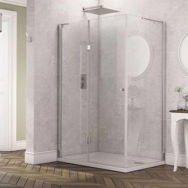 Harbour Clarity Frameless 6mm Hinged Shower Door & Optional Side Panel