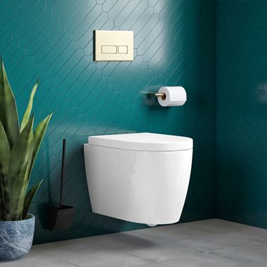 Harbour Clarity Wall Hung Toilet & Soft Close Seat - 520mm Projection