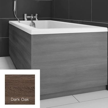 Harbour Dark Oak 800mm Vinyl Wrap Bath End Panel