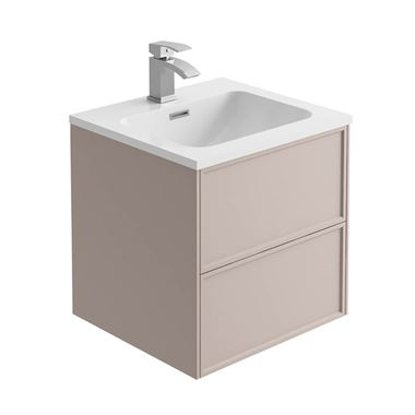 Harbour Form 500mm Wall Mounted Vanity Unit & Basin - French Blush