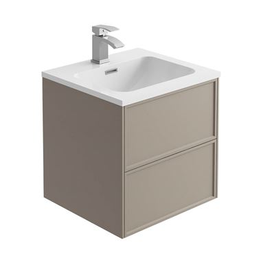 Harbour Form 500mm Wall Mounted Vanity Unit & Basin - French Grey