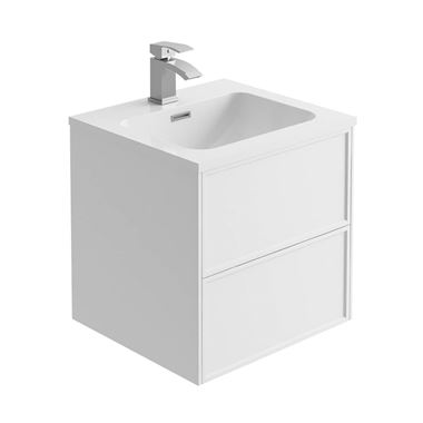 Harbour Form 500mm Wall Mounted Vanity Unit & Basin - Matt White
