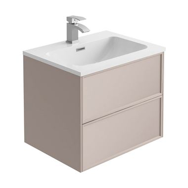 Harbour Form 600mm Wall Mounted Vanity Unit & Basin - French Blush