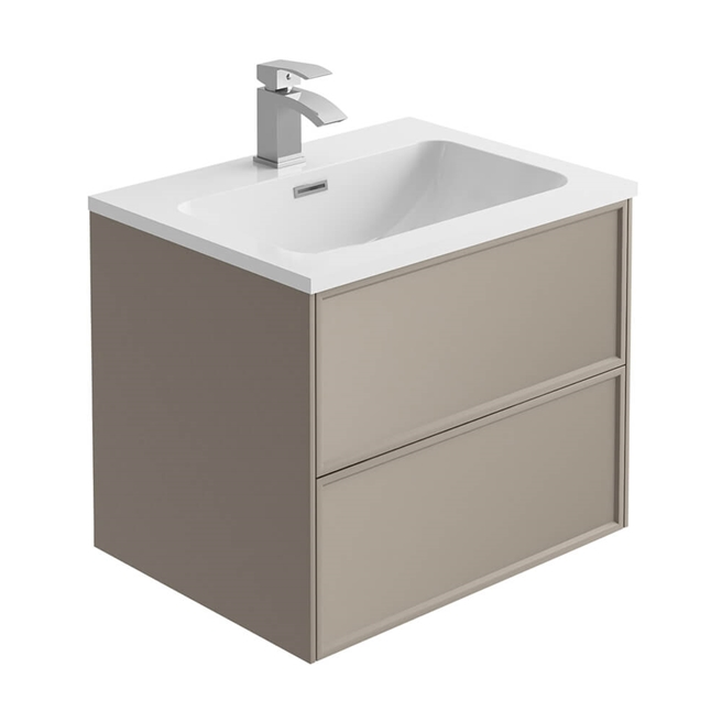 Harbour Form 600mm Wall Mounted Vanity Unit & Basin - French Grey