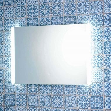 Harbour Glow LED Mirror with Demister Pad & Shaver Socket - 700 x 500mm