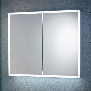 Harbour Glow LED Mirrored Cabinet with Demister Pad & Shaver Socket - 800 x 700mm