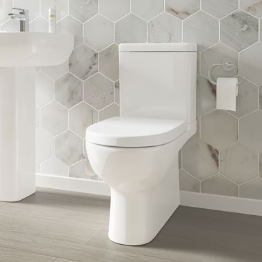 Harbour Grace Rimless Toilet & Soft Close Seat - 600mm Projection
