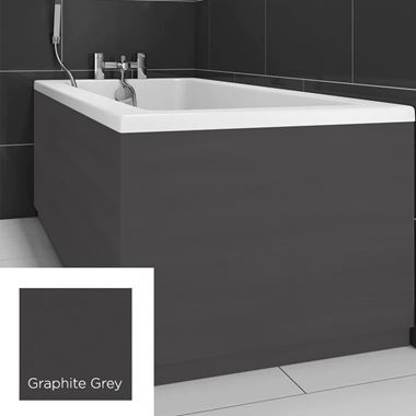 Harbour Graphite Grey 800mm Vinyl Wrap Bath End Panel