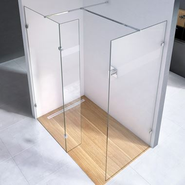 Harbour i10 10mm 2m Tall Easy Clean Wetroom Panel & Hinged Return Panel