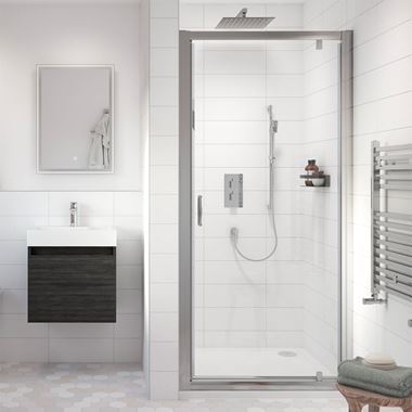 Harbour i5 5mm Pivot Shower Door & Optional Side Panel