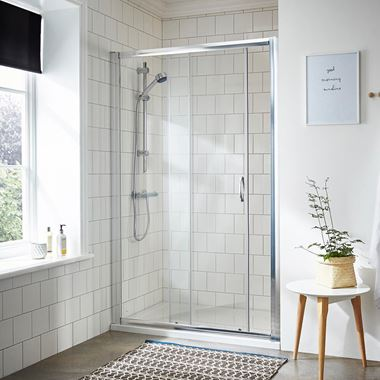Harbour i5 5mm Sliding Shower Door & Optional Side Panel
