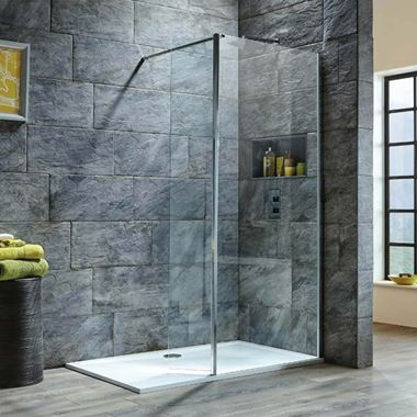 Harbour i8 8mm 2m Tall Easy Clean 900mm Wetroom Panel & Flipper Return Panel