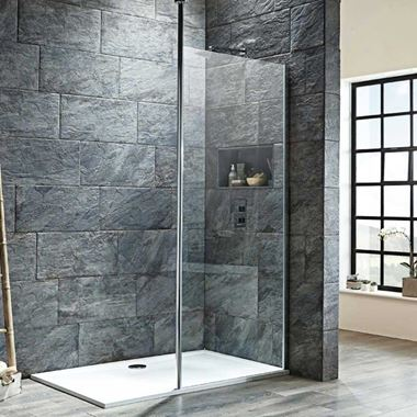 Harbour i8 8mm 2m Tall Easy Clean Wetroom Panel & Vertical Ceiling Post
