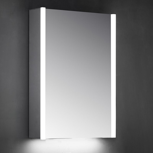 Harbour Icon Single Door Led Bathroom Mirror Cabinet With Shaver Socket 700 X 500mm Drench