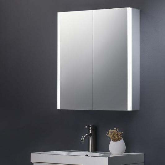 Harbour Icon Double Door Led Bathroom, Bathroom Mirrored Cabinets