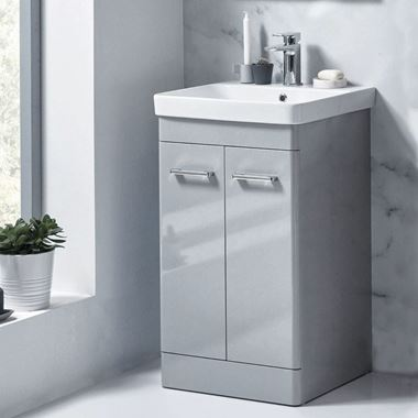 Harbour Identity 500mm Floorstanding Vanity Unit & Basin - Pebble Grey