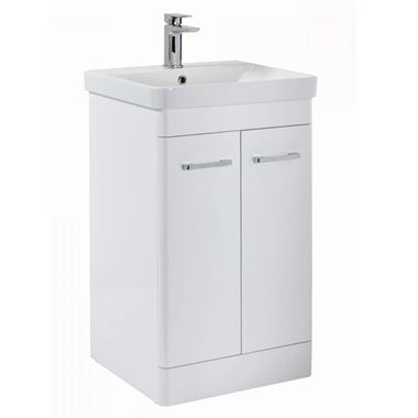 Harbour Identity 600mm Floorstanding Vanity Unit & Basin - Gloss White