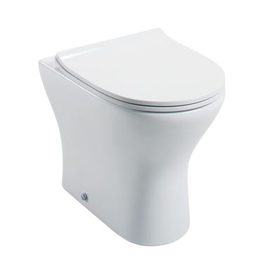 Harbour Identity Back to Wall Toilet & Wafer Thin Soft Close Seat - 490mm Projection