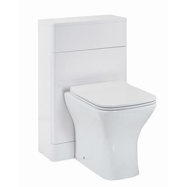 Harbour Identity 500mm Back to Wall Toilet Unit - White Gloss
