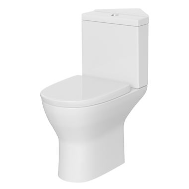 Harbour Identity Corner Toilet & Soft Close Seat - 805mm Projection