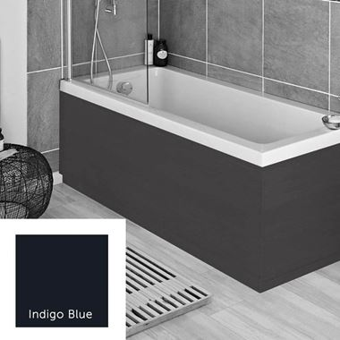 Harbour Indigo Blue 1800mm Vinyl Wrap Bath Panel