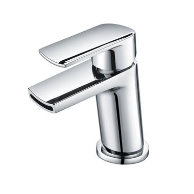 Harbour Clarity Mini Mono Basin Mixer with Push Waste - Chrome
