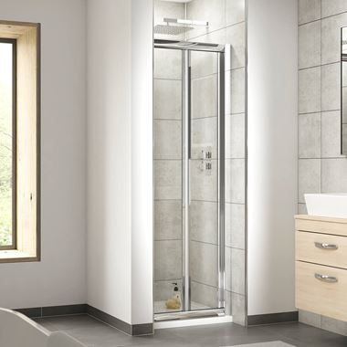 Harbour Primrose 4mm Bi-Fold Shower Door & Optional Side Panel