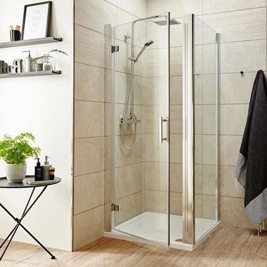 Harbour Primrose 6mm Frameless Hinged Shower Door & Optional Side Panel