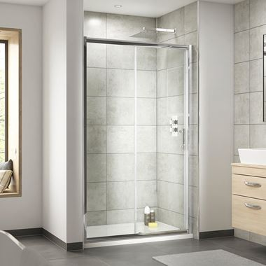 Harbour Primrose 6mm Single Sliding Shower Door & Optional Side Panel