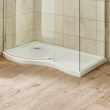 Harbour Primrose Left Hand Curved Walk In Shower Tray
