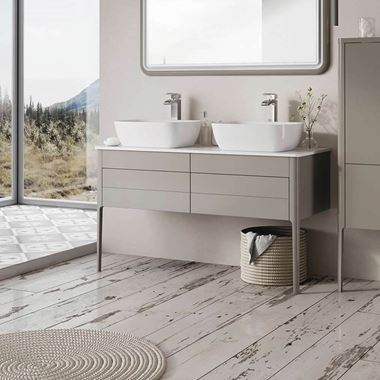 Harbour Serenity 1180mm Floorstanding Unit & Worktop - French Grey