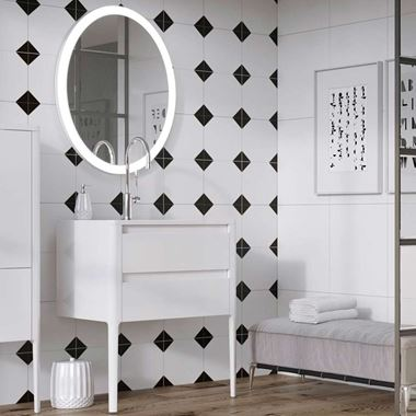 Harbour Serenity 590mm Floorstanding Vanity Unit & Basin - Gloss White