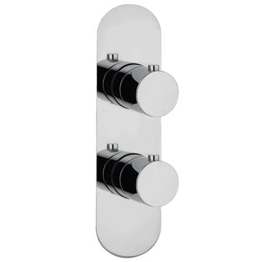 Harbour Slim Plate One Outlet Concealed Thermostatic Shower Valve