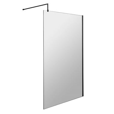 Harbour Status 8mm Matt Black Easy Clean Walk In Shower Panel - 1200mm