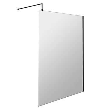 Harbour Status 8mm Matt Black Easy Clean Walk In Shower Panel