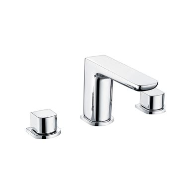 Harbour Status Chrome 3 Hole Basin Mixer Tap & Waste