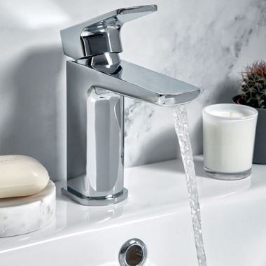 Harbour Status Chrome Basin Mixer Tap & Waste