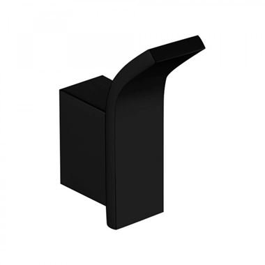 Harbour Status Matt Black Robe Hook